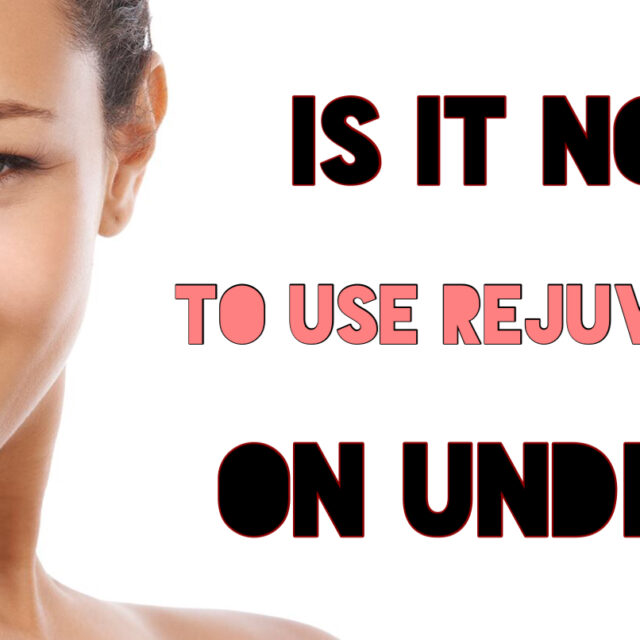 Is it normal to use rejuvenating set on underarm
