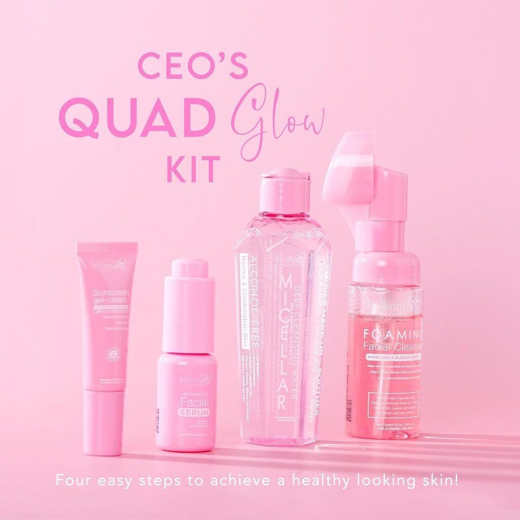 Review of Brilliant Skin CEO's Quad Glow Kit